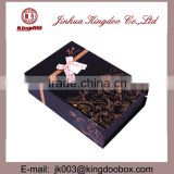 Jinhua Supplier Handmade Rectangular Professional Paper Jewelry Gift Box Set with Ribbon
