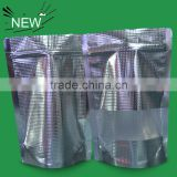 China Factory High Quality Embossed Aluminum Foil Vacuum Seal Bag With Zipper And Clear Window