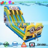 2016 new designed inflatable slide minions dual lane slide inflatable for kids and adults