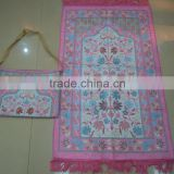 New design muslim prayer rug with bag BT-270