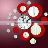 new arrive luxury crystal diy mirror wall clock home decor wall stickers