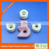 Fine polished ceramic hook guides/textile yarn fine wire guides/95% alumina ceramic/customized