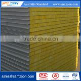 Fireproof and insulated metal faced fiber glass wool sandwich panel for wall board                                                                         Quality Choice