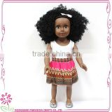 African Cloth Doll Black americn girl Doll Wholesale black plastic dolls