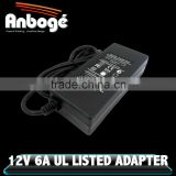 12V 6A power adapter supply c-tick PSE UL KC power supply 12v dc 72w 6 amp                                                                         Quality Choice