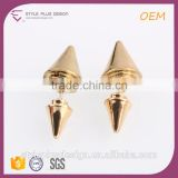 E74837I02 Simple Dubai Gold Jewelry Earring Designs For Women Models Copper Alloy Gold Spinning Spinous Earrings