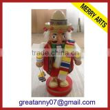 new products on china market custom made wholesale art minds wood crafts nutcracker puppet