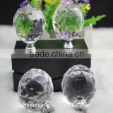 wholesale price factory directly sale white color high quality 60mm crystal door cabinet knob