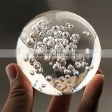 Crystal clear Heavy Glass bubble Sphere/clear glass bubble ball/home decor wholesale