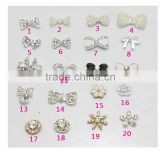 3D Nail Art DIY Decoration Black & White Color Bow Flower &Snowflake Pattern Nail Rhinestone Stickers For Manicure Tools