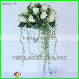 hot sale artificial real touch wedding dress white rose