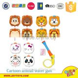 Hot sale good quality cartoon animal head shape water gun with bag for kids, plastic backpack water gun toy,summer toy