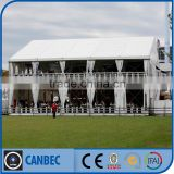 Outdoor sports hall tent with double decker aluminum structure