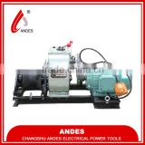 Andes electric cable pulling winch,cable pulling winch machine