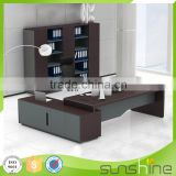 Latest executive office table designs L shape high quality Classic China commercial office furniture