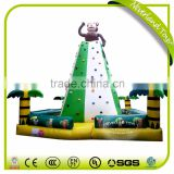 Best Quality NEVERLAND TOYS Green White Monkey Inflatable Rock Climbing Wall Funny Inflatable Climbing Holds For Kids
