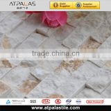 Atpalas EMC209 wall decorative popular hotel decor hexagon material mosaic tile in construction material