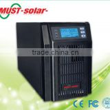 must solar 0.8 power factor ,high frequency online tower 1k-3k ups, LED/LCD display selectable