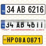 DM8200 Acrylic surface reflective car number plate