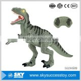 Cheap custom battery remote control dinosaur toy with light and music