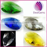 Green,yellow,white,grey,blue 38x22mm top drilled teardrop,crystal glass pendant,DIY Jewelry Accessories.