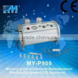 MY-P909 Crystal microdermabrasion powder machine home use ,diamond peeling machine (CE approved)
