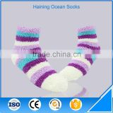 White blue and purple stripe fashion winter thick socks