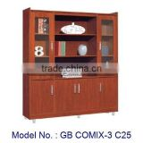 Larger Living Furniture Of MDF Book Case With Showcase, book cabinet, cheap wooden bookcases, country style bookcase, bookcase