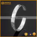 New arrivals vogue indian silver plated wide bangle costume jewelry fashion bridal bracelets jewellery wholesale