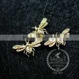 9*15mm gold plated brass tiny bee bug DIY pendant charm jewelry findings supplies 1850257