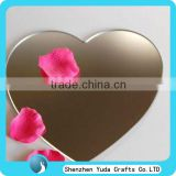 Heart shaped acrylic decorative wall mirrors