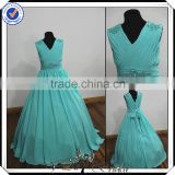 FF0006 real sample full-length ball gown beach wedding flower girl dress 2014