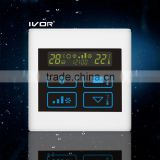 Good Quality IVOR 220V Central Air-Conditioner Thermostat Digital AC Thermostat Switch SK-AC2300T Ivory White PC Frame