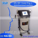opt laser3300w shr laser Permanent 2 in1 hair removal+Tattoo Removal machine POP-E8 / Laser +E-LIGHT+Black doll baby shr