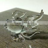Tiny Crystal Goldfish Hand Blown Clear Glass Art Figurines Miniature Fish Collection Home Decor