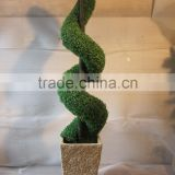 3ft Artificial Green Boxwood Spiral Potted Topiary Trees