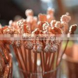SOLID COPPER PINEAPPLE DRINK STIRRER CUM DRINKING STRAW, PURE COPPER PINEAPPLE SWIZZLE STICK