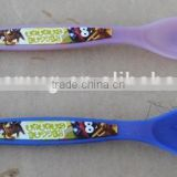 sedex audit factory baby color changing plastic spoon with temperature detector function