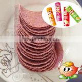 Purple potato chips tube packing with blister inn