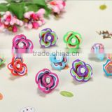 Unique design porcelain flower beads for mobile shell decorations handmade Polymer clay beads for earrings accessories