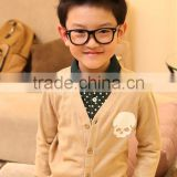 2014 autumn v neck knitted cashmere wool cardigan for baby boy