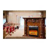 Decorative Fake Flame European Electric Fireplace Heater Insert for Apartment