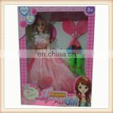 11' plastic little girl love doll toy