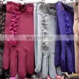 Trendy Ladies Stylish Bow Winter Cute Wool Gloves with lace flower