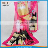 original new style polyester colorful silk scarf