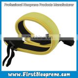 Yellow Customize Design Neoprene Hand Strap For Camera