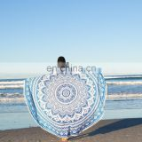 Indian Mandala Round Roundie Beach Throw Tapestry