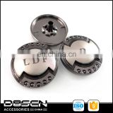 2 Colored Shiny Cap Dots Custom Letters Logo Metal Snap Button Snap Fastener Press On Studs Button for Jacket Coat Shirt 15mm