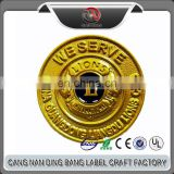 Professional OEM Cheap Custom Soft Enamel Lion Club Badge Zinc Alloy Die Cast 24k Gold Plated Coin