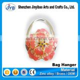 promotional customized logo branded handbag hanger for wedding gifts